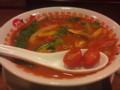 太陽のベジトマト麺。とってもパプリカ。うまかった
