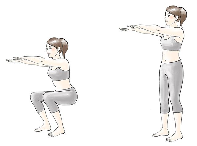 運動法2:スクワット