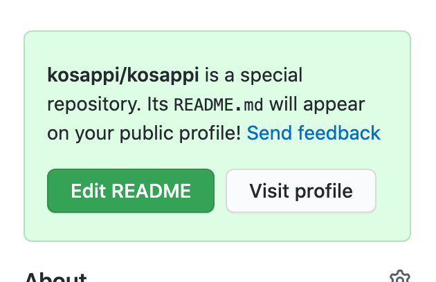 github special repository info