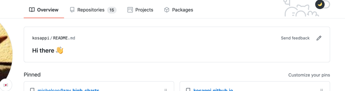 github readme.md from special repository
