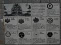 白鳥PA内にある姫路城についての看板