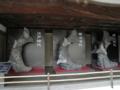 大天守の鯱(左から江戸期、明治期、昭和期)