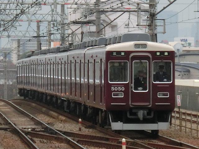 阪急5000系5050F普通三宮行@園田駅