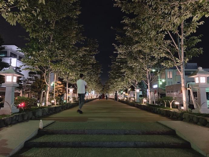 verve coffee 鶴岡八幡宮へ繋がる参道
