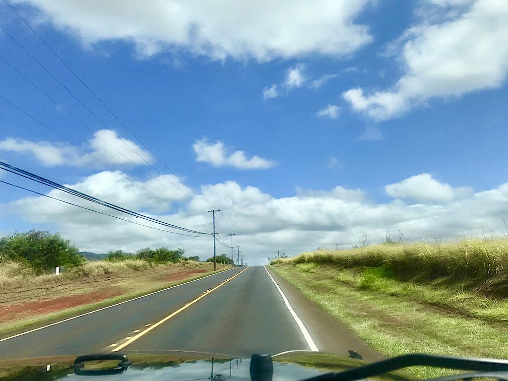道はほぼ平坦