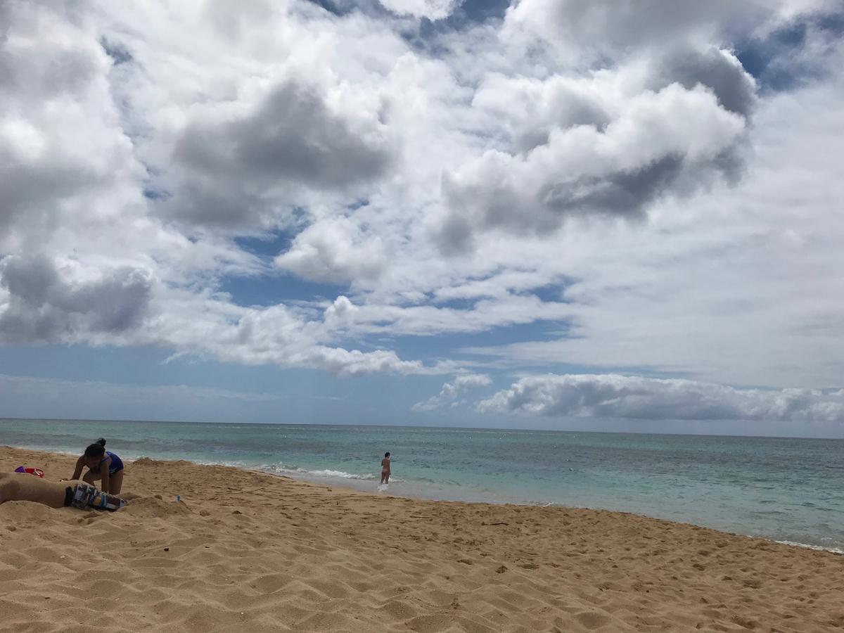 ノースショアのビーチ