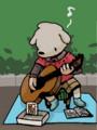 道でギター弾いている人