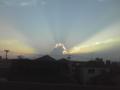 後光が差す雲
