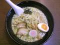 [百楽天] 鶏白湯らー麺(醤油、ゴシ麺)