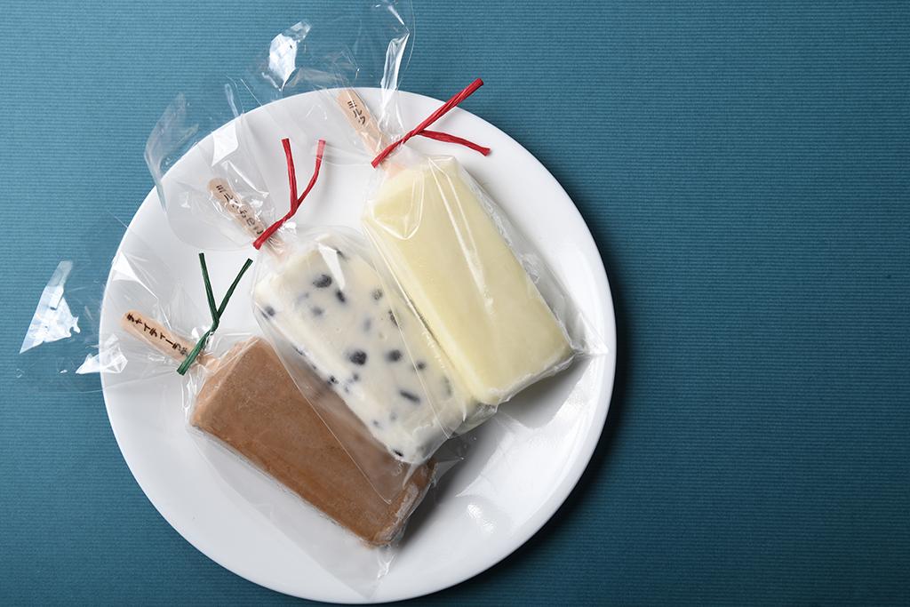 六甲牧場のアイスキャンディー3種類