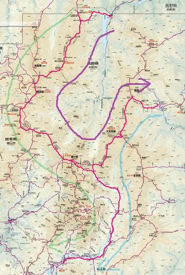 裏銀座と表銀座の地図