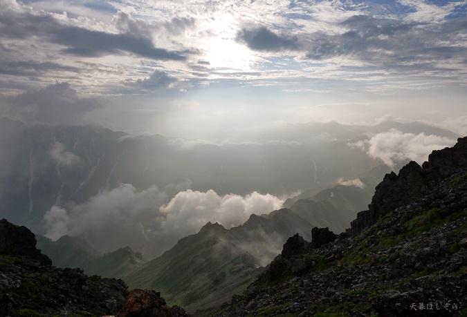 槍ヶ岳からの眺望