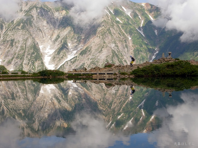 白馬三山と八方池
