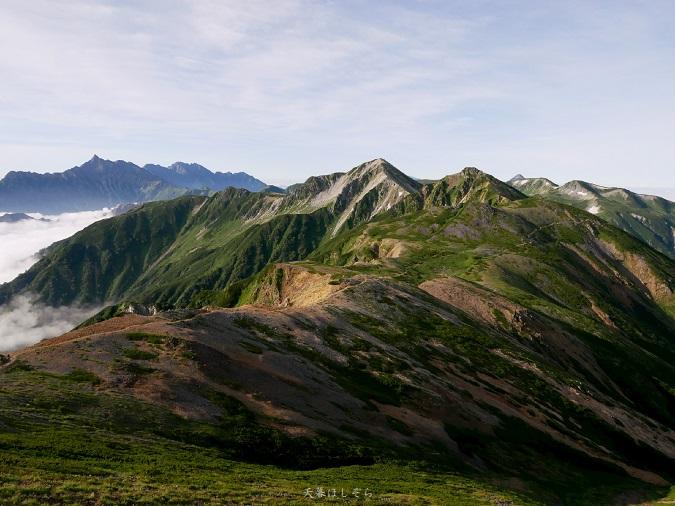 北アルプスと槍ヶ岳の絶景