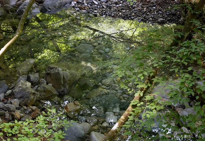 みたらい渓谷の水