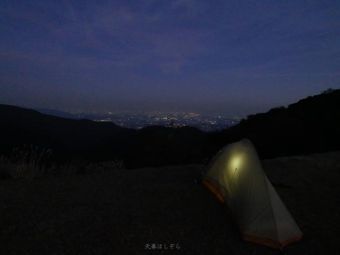 石榑峠とテント