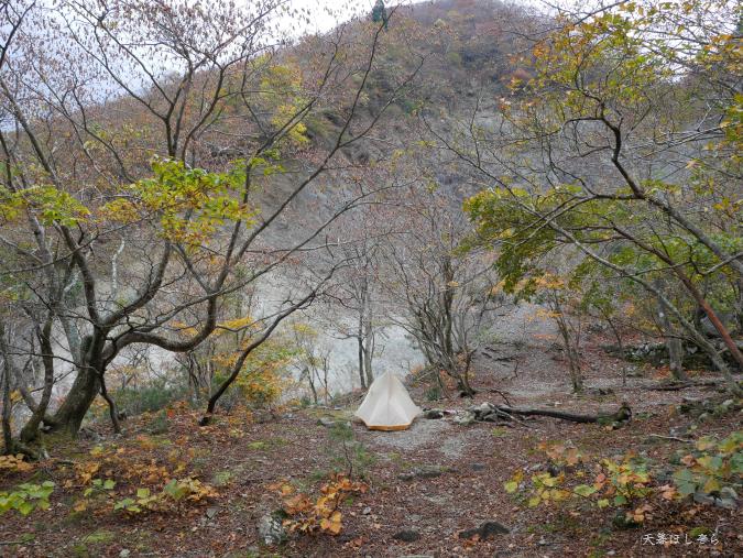 杉峠でテント泊