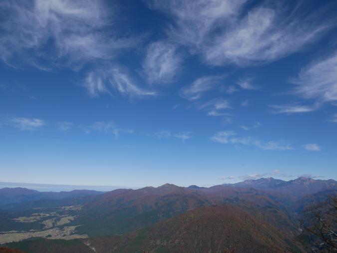 荒島岳頂上付近からの眺め