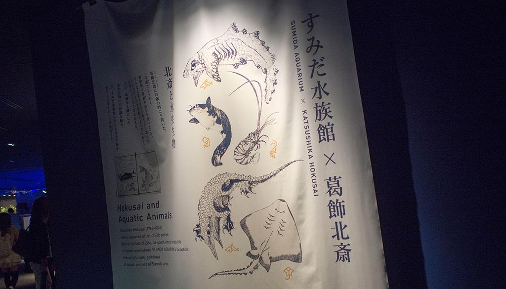 葛飾北斎展示の説明
