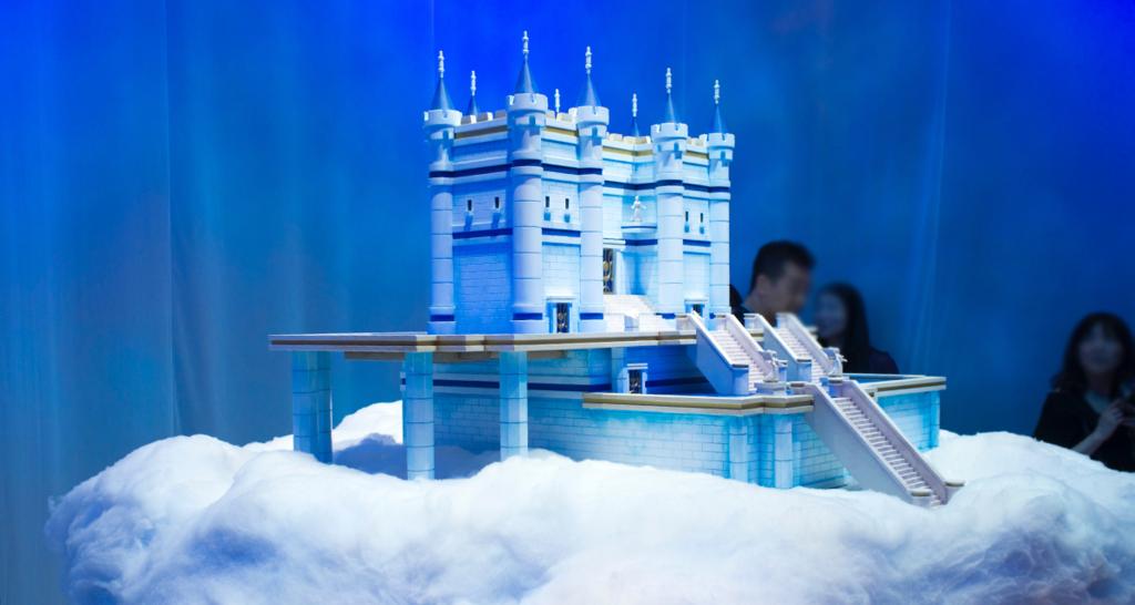 天空城のジオラマ
