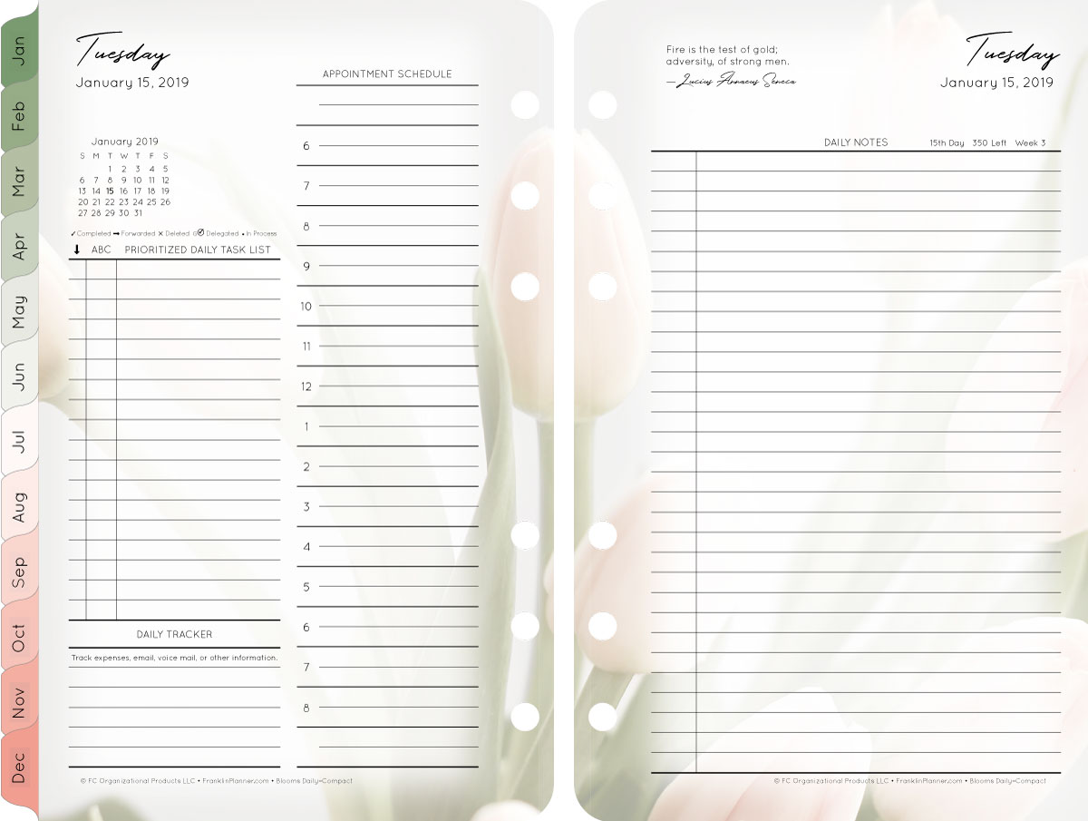 notebook-franklin-planner-refill-flower