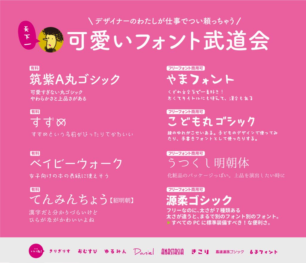 デザイナーが仕事で使う!日本語フリーフォント!かわいいやつ5選+1