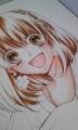今更ですがりぼんフェスタの色紙描き途中