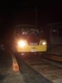 [鉄道][DMV]明知鉄道DMV夜間試験走行  レールへのモードチェンジ