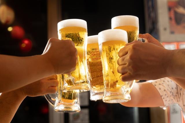ビールでカンパーイ!!