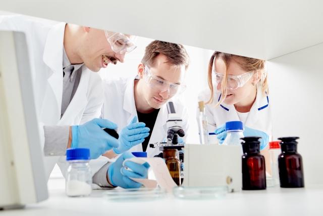 研究をする研究員たち