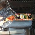 ささみのフライ、いなり、巻き寿司
