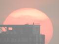 春分の日の夕陽 2015 クールピクスP900