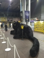 小倉駅 クロネコヤマト 巨大黒猫
