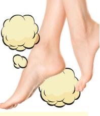 気になる足の臭い