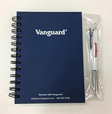 SBI証券の懸賞、バンガードのノートとペン