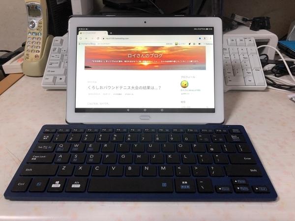 「ELECOM 軽量×薄型 Bluetooth ミニキーボード TK-FBP102」をAndroid タブレ