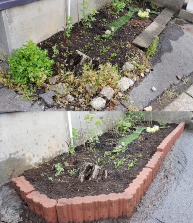 【 知識0から始める簡単ガーデニング講座 】花壇ブロックを埋めていく
