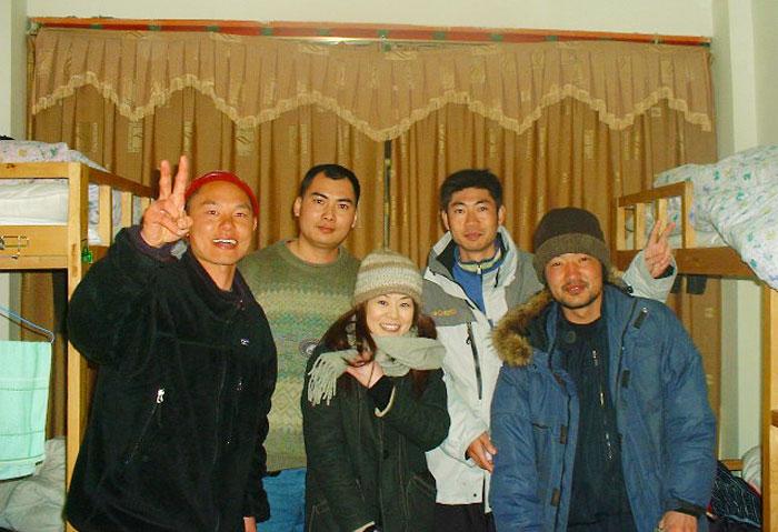 チベット・ラサでのバックパッカー仲間