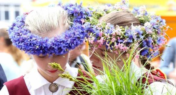 ラトビアの夏至祭