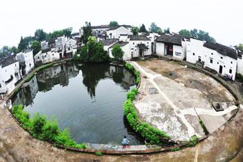 諸葛村の陰陽太極池