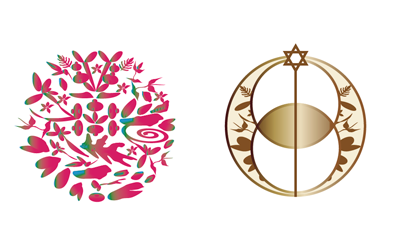 美楽薬膳とシャングリラ・アースのロゴ