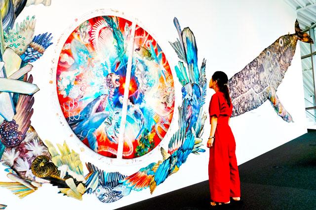 大小島真木さん。「絵と言葉のまじわりが物語のはじまり」