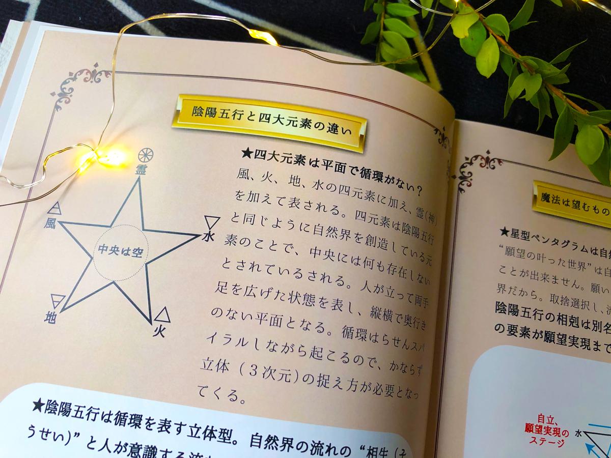 薬草魔女の願望実現レッスン★陰陽五行と四大元素の違い