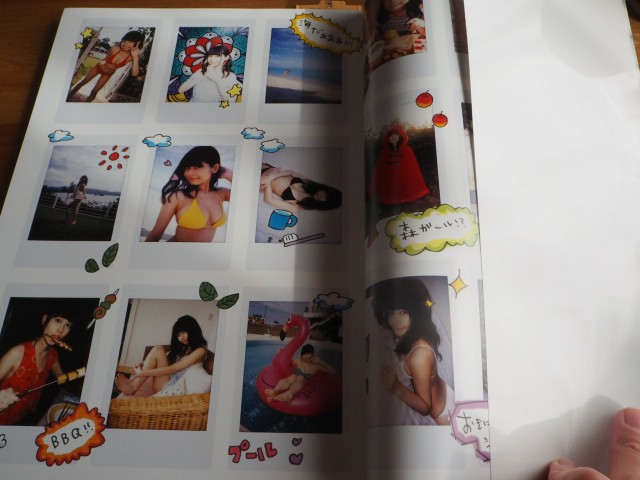 写真集「ぺろりん」の中身、チェキがたくさん