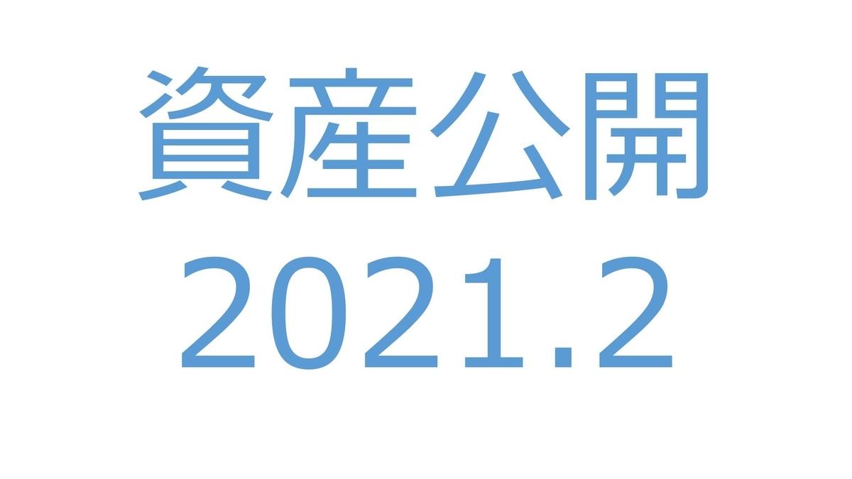 【資産公開】セミリタイアへの軌跡|2021年2月