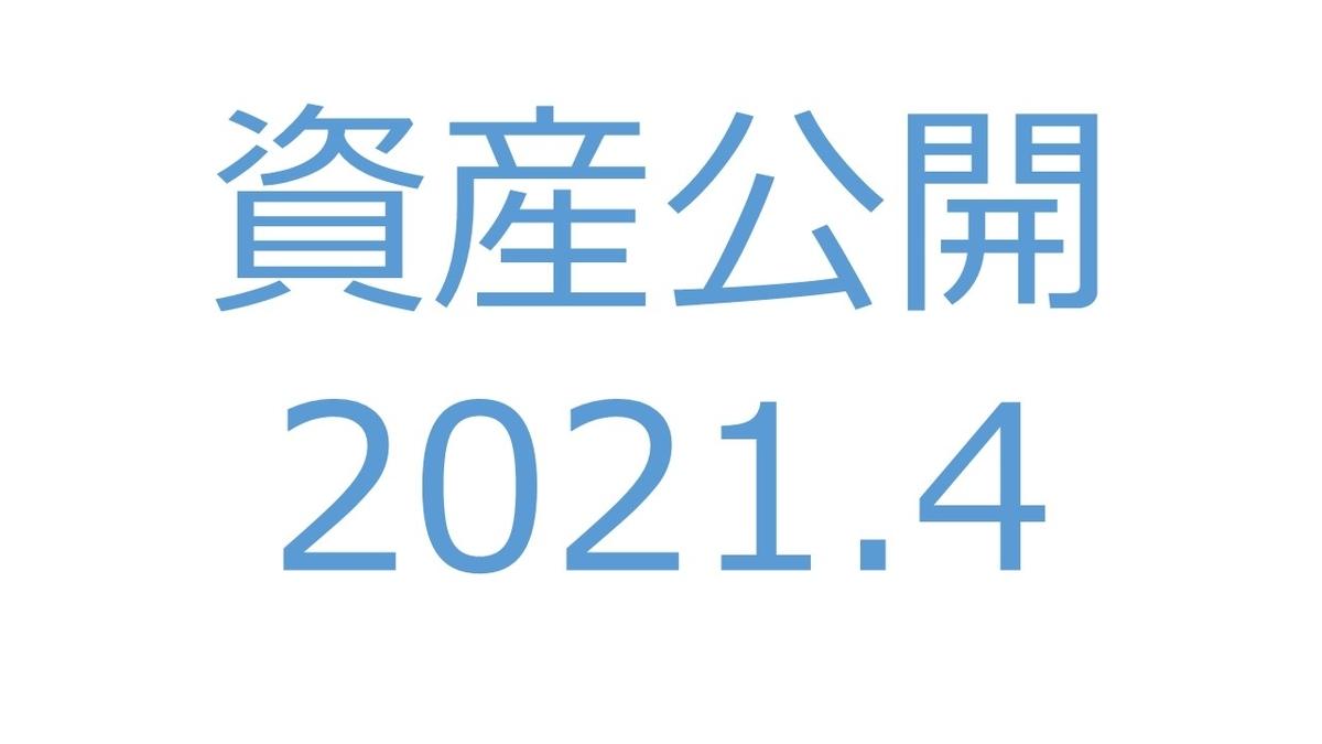【資産公開】セミリタイアへの軌跡|2021年4月