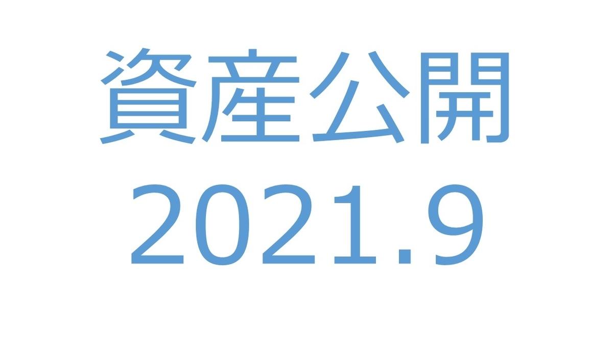 【資産公開】セミリタイアへの軌跡|2021年9月