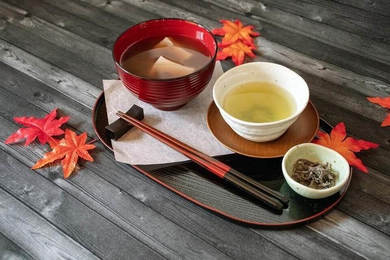 日本茶とおしるこ