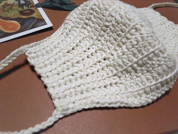図 編み かぎ針 マスク