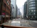 [旅行][ロンドン2012.0707-0712]帰りバス。2階から目の前にガーキン!